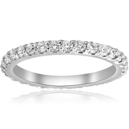 7/8ct Diamond Eternity Ring 14K White Gold (G/H, I1-I2)