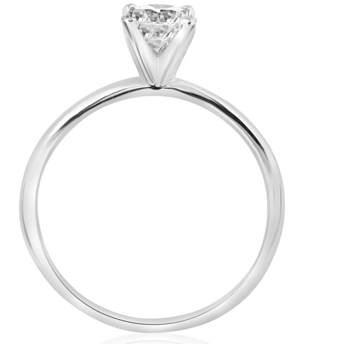 5/8ct Solitaire Round Diamond Engagement Ring 14K White Gold Brilliant Jewelry (G/H, I2)