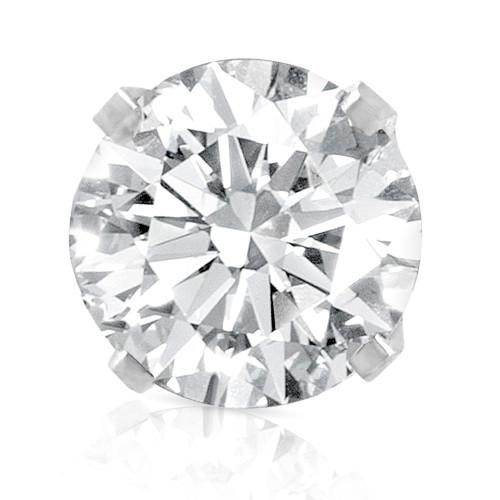 1/3ct Diamond Screw Back 14k White Gold Single Stud Earring (I1, G-H)