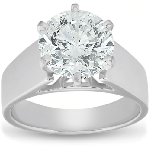 2 Ct Diamond Solitaire Engagement Ring 14k White Gold (G/H, SI2)