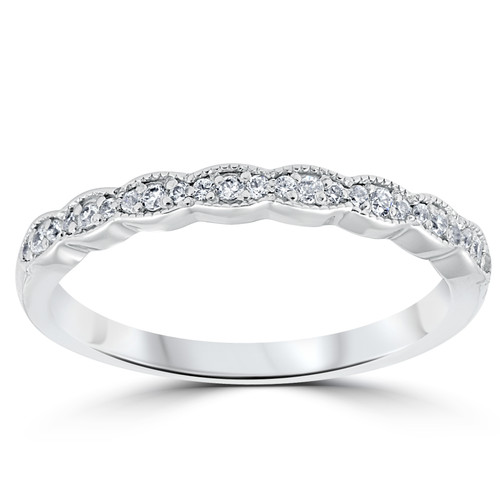 1/5 cttw Diamond Stackable Womens Wedding Ring Platinum (G, SI2-I1)