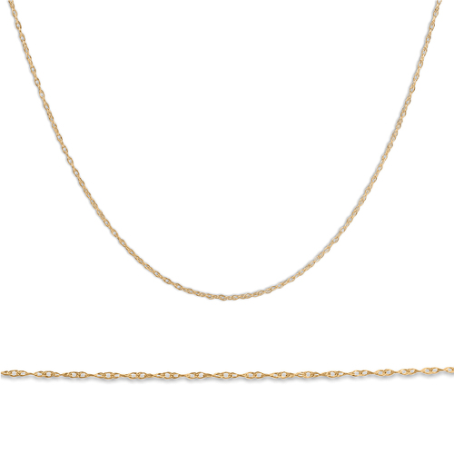 """Solid 10k Yellow Gold 18"""" Dainty Chain With Spring Ring"""
