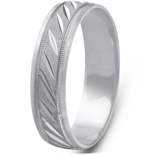 Mens 10k Black Gold Mens Hand Carved 5mm Wide Ring Wedding Band