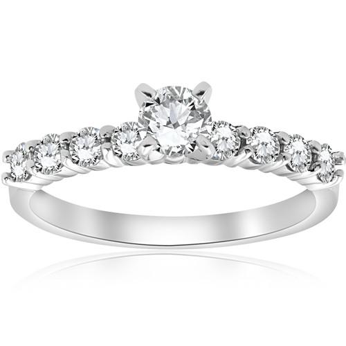 1 1/2 Ct Diamond Engagement Ring 14k White Gold (H/I, VS1-VS2)