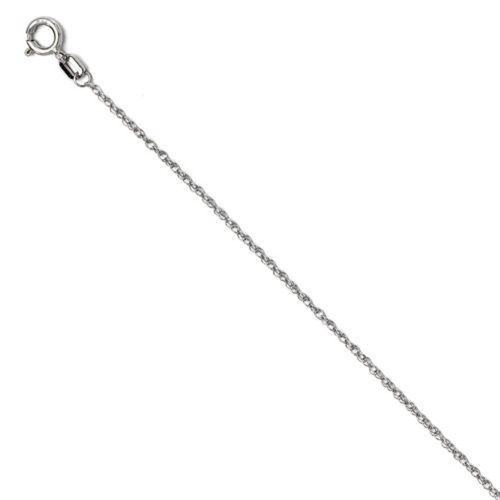 1/10Ct Diamond Solitaire Knot Pendant 10k White Gold Womens Necklace (G/H, I1-I2)