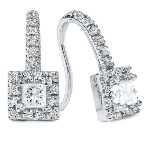 5/8ct Diamond Studs 14K White Gold (H/I, I2)