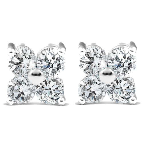 1/2ct Diamond Eight-Stone Studs 14K White Gold (G/H, SI2-SI3)