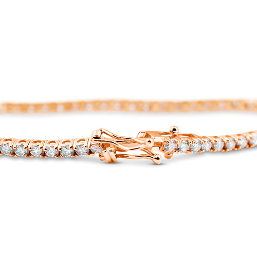 "4ct Diamond Tennis Bracelet 14K Rose Gold 7"" (G/H, I2)"