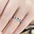 1 Ct Princess Cut Blue Sapphire & Diamond Ladies Wedding Ring 14k White Gold ((H-I), (I2))