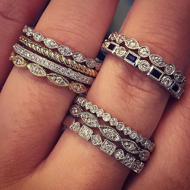 Stackable Wedding Bands.Stackable Diamond Rings Pompeii3 Com