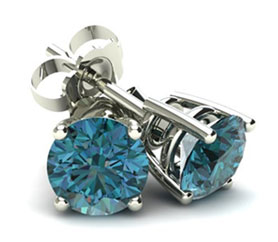 4 Prong Round Basket Blue Diamond
