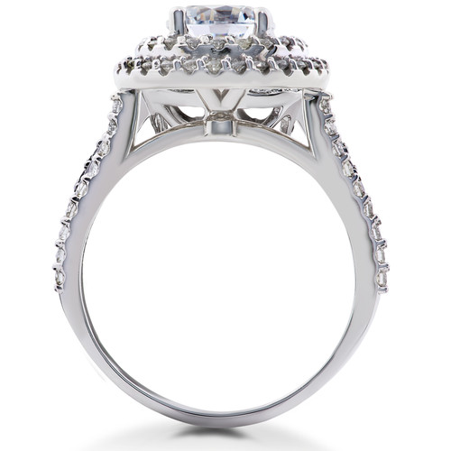 7a7e6f38806c4 1 ct Double Halo Round Diamond Eco Friendly Lab Created Engagement Ring 14k  Gold (F