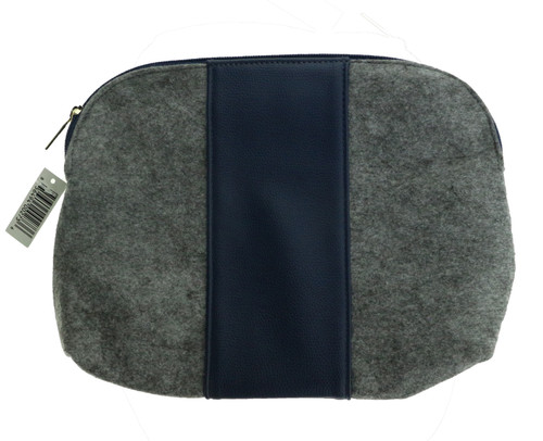 Women's Gray And Navy Blue Cosmetic Bag New Cosmetic Bag