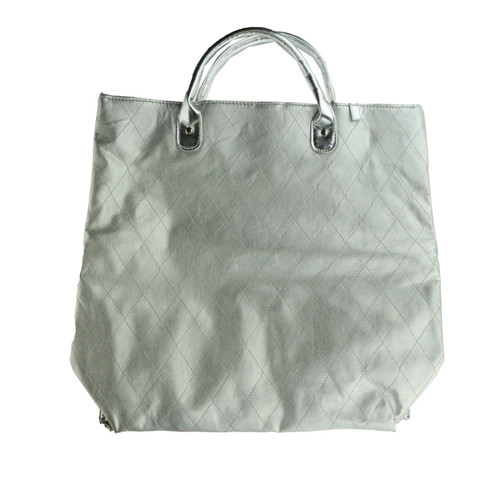 Large Silver Tote Bag New. Height: 14Inches Width: 15.5 Length:4 Tote Bag