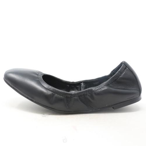 Brindin Leather Flat Black Shoes