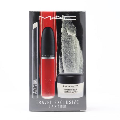 Travel Exclusive Lip Kit Red 3 Pcs Set