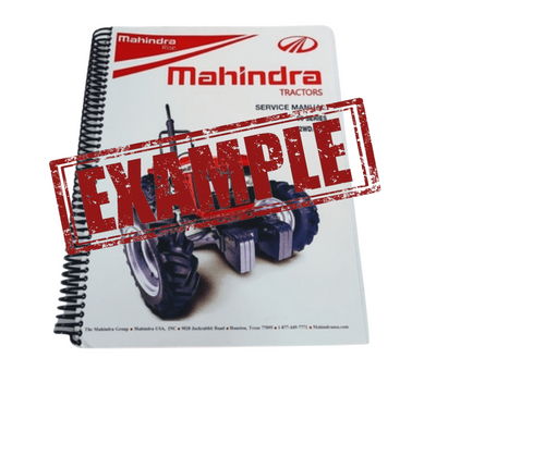 OPERATOR'S MANUAL FOR 2555 GEAR CAB & OPEN STATION T-4 MAHINDRA TRACTOR (12279400010)