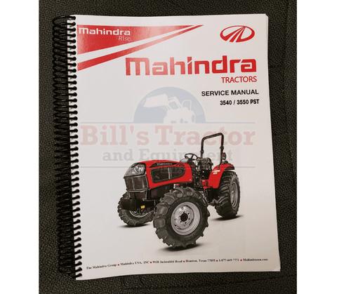 REPAIR MANUAL FOR 3540 PST MAHINDRA TRACTOR (PMSM35403550PT-4)
