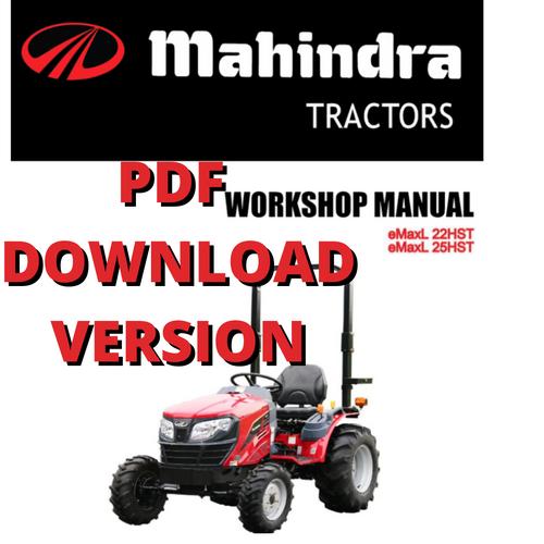 EMaxL 22-25 HST WORKSHOP Manual PDF