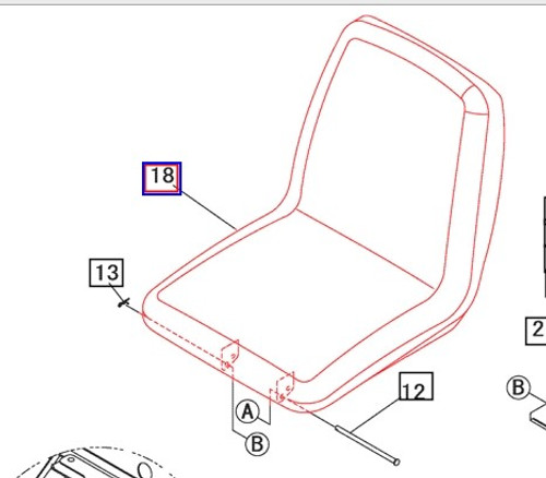 SEAT FOR MAHINDRA 1538, 3616 OPEN, 3616 CAB