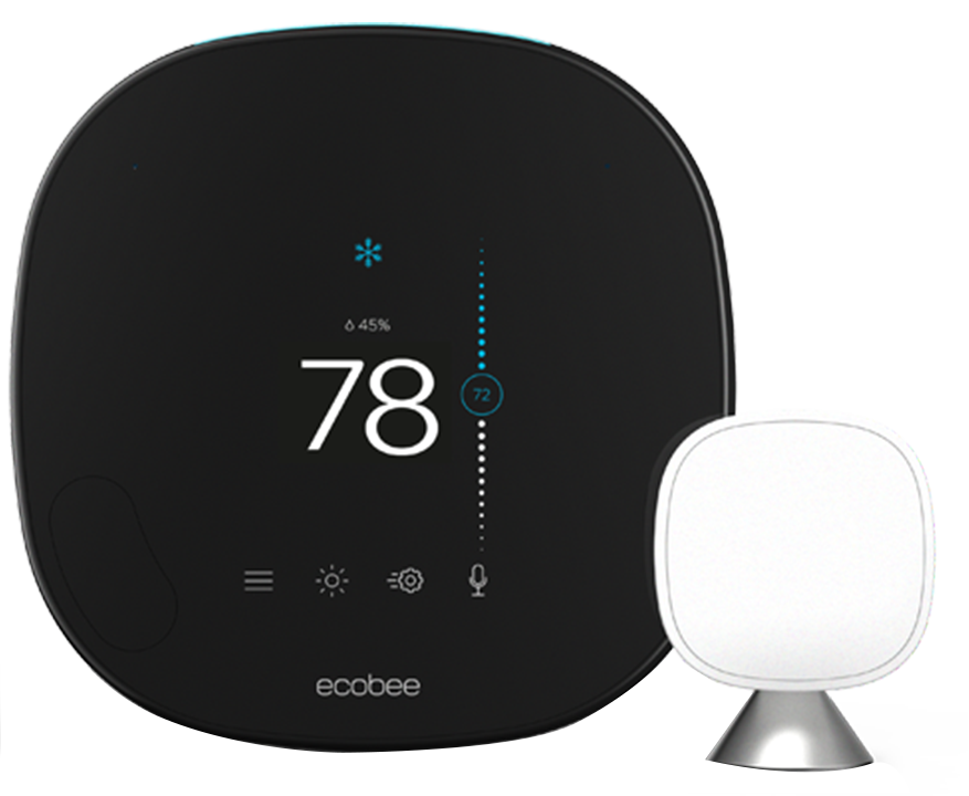 ecobee3 smart thermostat set to 78 cooling