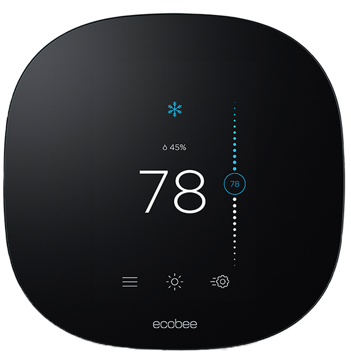ecobee smart thermostat set to 78 cooling