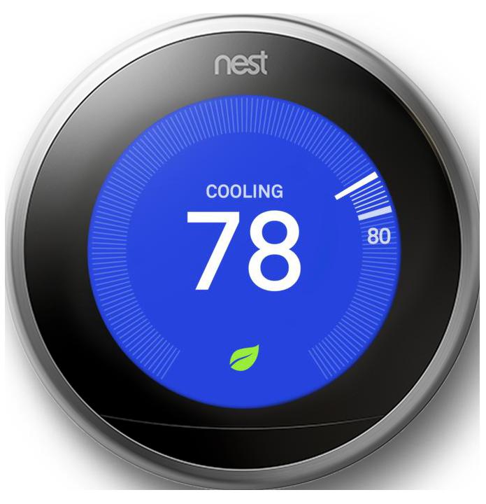 nest thermostat set on 68 degree heating