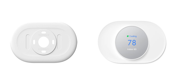 nest snow trim kit with matching thermostat