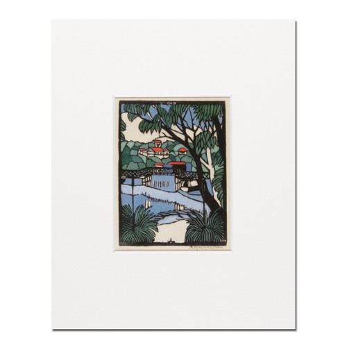 Margaret Preston, Mosman Bridge small mounted print