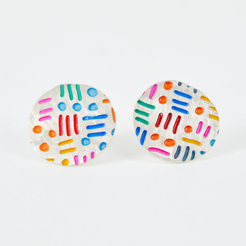 Dots & Dashes Stud Earrings