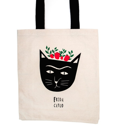Niaski Frida Catlo Tote Bag