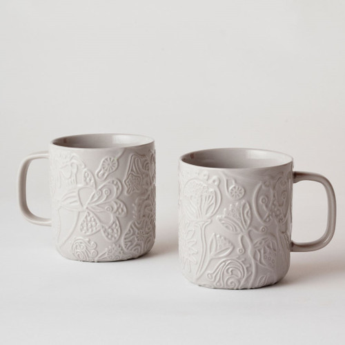 Imaginary Botanical Mug Set Grey