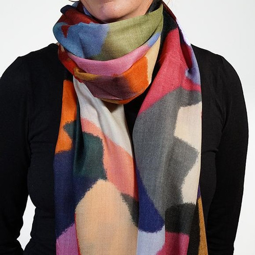 Coloured Glass Wool Scarf