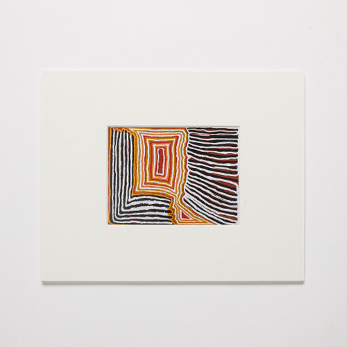 Sam Tjampitjin, Untitled small mounted print