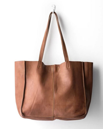 Juju & Co Baby Unlined Leather Tote Cognac