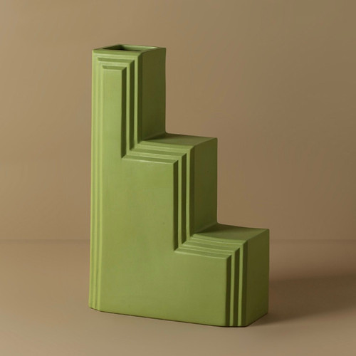 Green Stairs Architecture Vase
