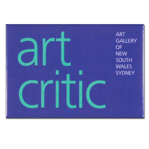 Art Critic Purple Oblong Magnet