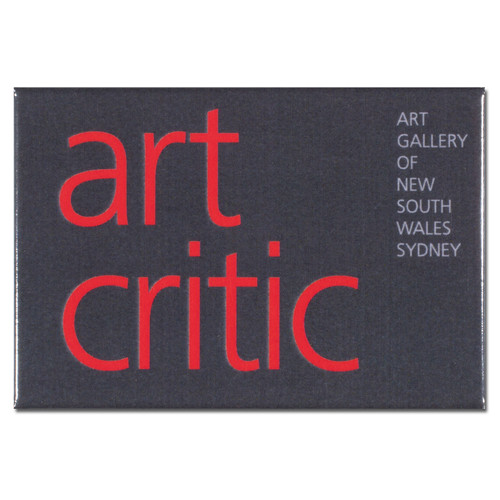 Art Critic Grey Oblong Magnet