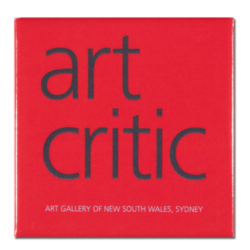 Art Critic Red Square Magnet
