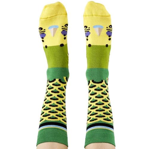 Green Budgie Socks