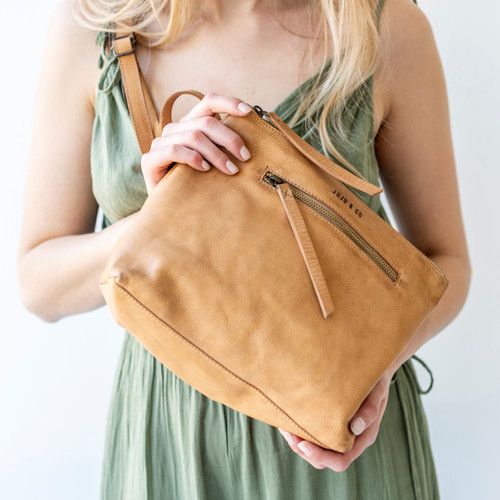 Juju & Co Essential Pouch Natural Leather Large
