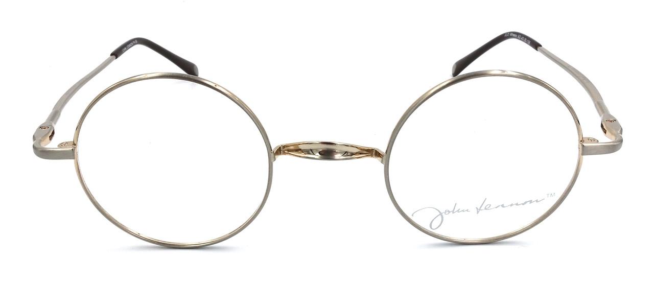 56b66b64327 John Lennon Wheels Eyeglass Frames - Silver Gold