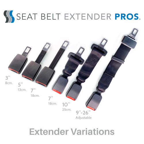 Seat Belt Extender for 2010 Chevrolet Traverse 2nd Row Middle Seats E4 Safe