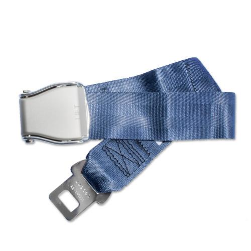 Universal Airplane Seat Belt Extender elegantly configured (blue)