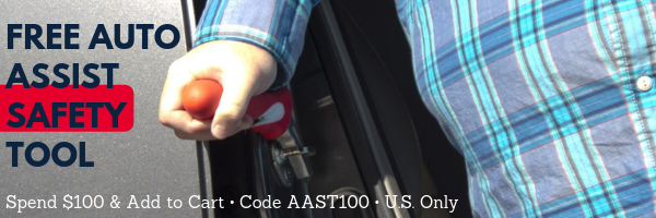 Free Auto Assist Safety Tool with 100 Dollar Purchase