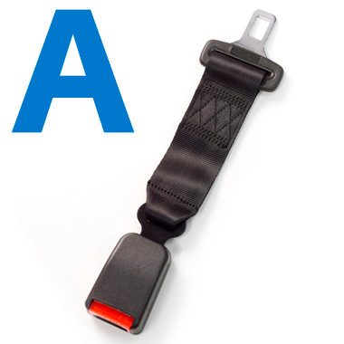 Seat Belt Extender Pros E4 Safety Certified Rigid 5 Inch Seat Belt Extender 3-Pack to Buckle Safely with Click-and-Go Technology 7//8 Inch Metal Tongue Width, Type A Black