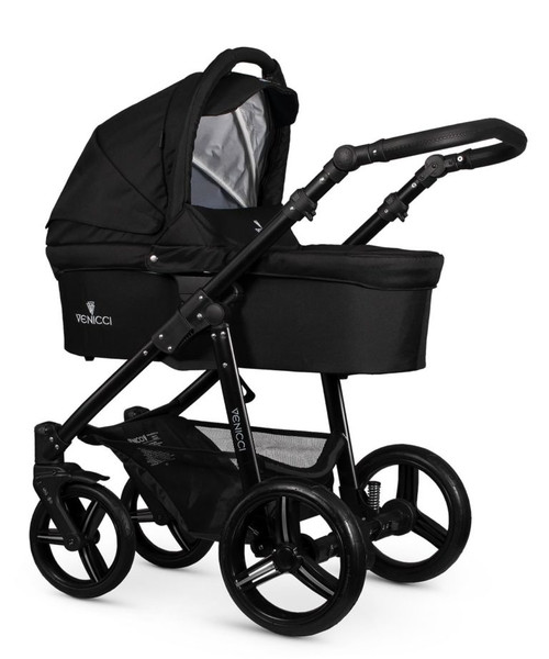 Venicci soft Black carrycot on Black