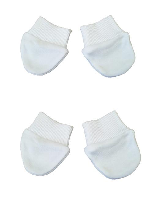 White Premature Scratch mitts 2 pair