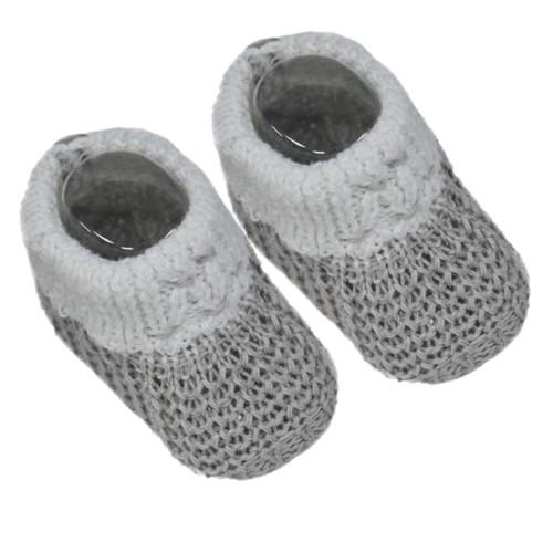 Grey Baby booties