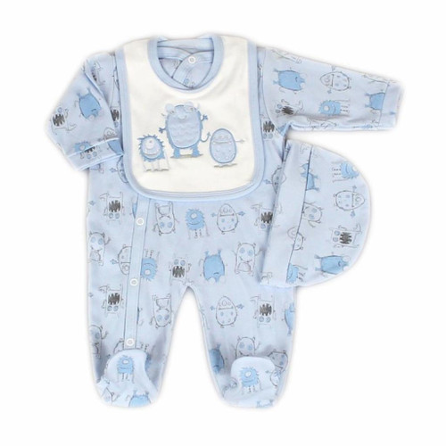 Monster 3 Piece Layette Set